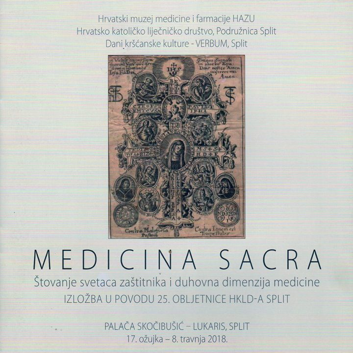 Medicina Sacra - naslovnica splitskog kataloga