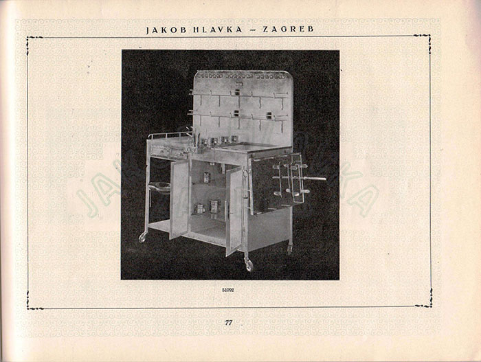 Prikaz ORL stola iz kataloga Jakoga Hlavke
