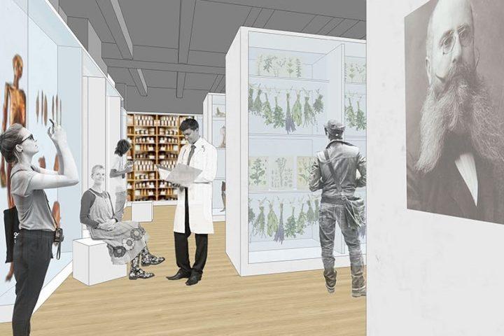 Prostorna projekcija iz idejnog projekta Muzeja